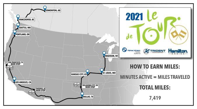 Tour de PJ 2021 Map blog